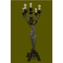 The Sexy Goddess Torchiere Floor Lamp Hand Made Museum Quality Artwork Figurine