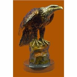 Bald Eagle large bronze sculpture,finest European casting Hot Cast Statue 20 LBS