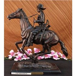 Frederic Remington Trooper of The Plains Bronze Sculpture signed in bronze Sale