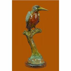 Great Vintage Hot Cast Large LTD Edition w/ COA Austrian Bronze Kingfisher Decor