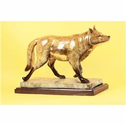 SIGNED MARIUS COLLECTOR EDITION SLY FOX ANIMAL BRONZE