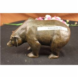 BRONZE MOTHER GRIZZLY BEAR STATUE ART SCULPTURE FIGURE