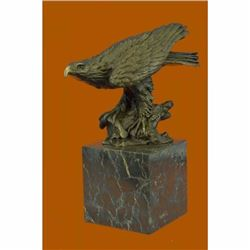 Art Deco Vienna Bronze Falcon American Eagle Bronze Sculpture Statue Figurine
