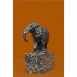 Bronze Sculpture, Hand Made Statue Art Nouveau Signed Milo Abstract Elephant NR