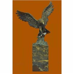 Swooping Eagle Catching Fish Hot Cast Wildlife Bronze Sculpture Statue Figurine