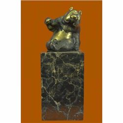 Cute animal bronze sculpture - The Panda - created by Milo Hot Cast Figurine Art