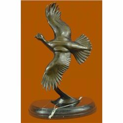 Signed Original Juno Female California Quail Bronze Sculpture Marble Statue Gift