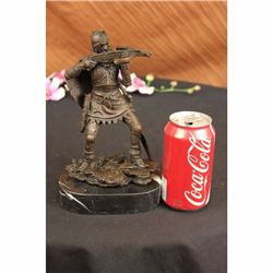Japanese Warrior Bronze Sculpture by Kamiko Figurine