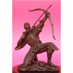 Ancient Samurai Warrior Bronze Sculpture Figurine Art