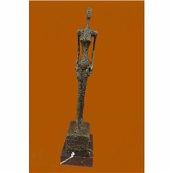 Hot Cast Gia Abstract Modern Art Female Bronze Sculpture Marble Base Figurine Fi
