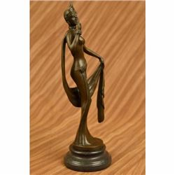 Art Nouveau 1920 Model Bronze Sculpture Hot Cast Figurine Figure Sensual Decor