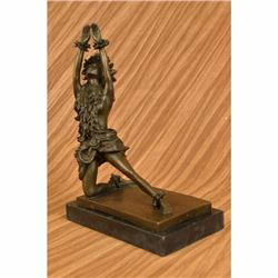 Vintage Reproduction Hula Dodge Hawaiian Bronze Motion Sculpture Perfectly-Mint