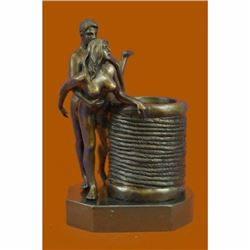 Erotic Sexual Sexy Sex two Couple Making Love Bronze Sculpture Hot Cast Figurine