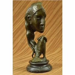 Auguste Rodin Classic Praying Lady Bronze Sculpture Marble Statue Figurine Decor
