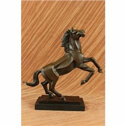 Abstract Modern Horse Stallion Horse Racing Trophy Bronze Sculpture Statue Decor