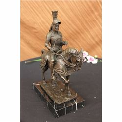 SIGNED KNIGHT WARRIOR BRONZE STATUE BY MILO