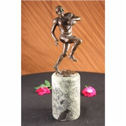 Bronze Marble Sculpture Statue Trophy Football Player