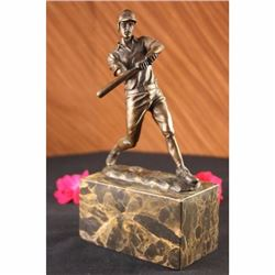 SOLID BASEBALL REAL PLAYER BRONZE STATUE SCULPTURE ART FIGURINE SPORTS