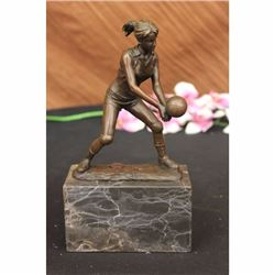 Girl Volleyball Olympic Sport Game Bronze Figurine Statue