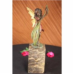 Bronze Baby Girl Angel Book End Bookend Art Deco Figure Figurine Sculpture
