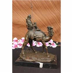 RARE LEONARD CAMEL RIDER POMPEIAN BRONZE BOOKEND LOST WAX HAND MADE