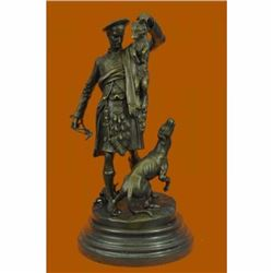 AFTER P.J. MENE. A PATINATED BRONZE GROUP OF A SCOTTISH HUNTER, THE KILL SALE