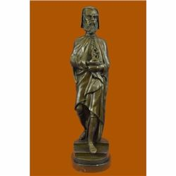 Large Michelangelo Bronze Sculpture by Carrier Belleuse Marble Base Figurine