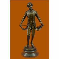 Taking a Bow by Besserdich Bronze Sculpture Marble Base Figurine Figure Hot Cast