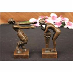 COLLECTABLE NUDE LOVING COUPLE BRONZE STATUE HOT CAST SCULPTURE FIGURINE FIGURE