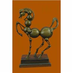 Tribute to Dali Abstract Modern Art Horse Sculpture Marble Base Figurine Figure