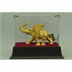 Massive Art Deco 24K Gold Bronze African Elephant Bronze Sculpture Figurine Sale