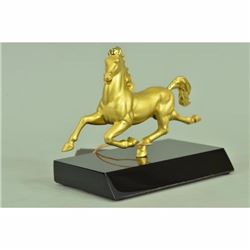 Running Gold Metal Horse Statue , shoe-shaped gold ingot statue Hot Cast Deal