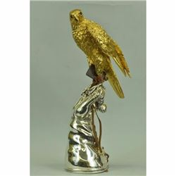Atlanta Falcon Maltese Duck Hawk Bird Lover Watcher Bronze Marble Statue Artwork