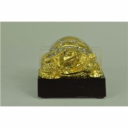 24K Gold Brass Bronze Turtle Business Card Holder Paperweight Hot Cast Decor