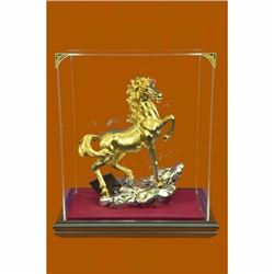 Racing Horse Man Trainer Equestrian Artwork Bronze Marble Statue Sculpture 24k