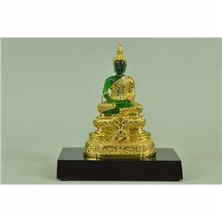 Beautiful Handcrafted Thai Buddha 24K Gold Plated Bronze Sculpture Statue Figure