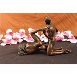 Two Pcs Vienna Erotic Bronze Sculpture Figurine Signed And Numbered Jean Patoue