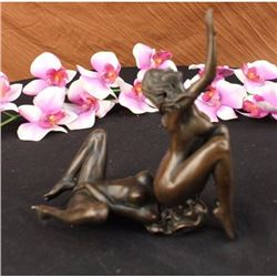 Signed And Numbered 2 pcs Erotic Girls Making Love Statue Decor