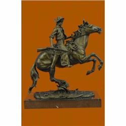 The Arizona Cowboy bronze statue, inspired by Frederic Remington Sculpture Gift