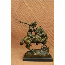 Amazon on Horseback Attacked by a Tiger August-Karl-Edouard Kiss Bronze Statue