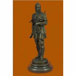 Hot Cast Bronze Medieval European Soldier w/ Dagger Statue Sculpture Figurine