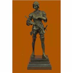 Bronze Sculpture Picault (Emile Louis), signed, Figure of Warrior, Le Devoir, 1
