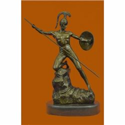Vintage Neoclassical Greco/Roman Bronze Gladiator Nude Male by Jensen Figurine