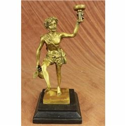 Sensual Nude Male Dionysus Bacchus Boy Wine God Grapes Ecstasy Art Bronze Statue