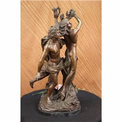 Extra Large 75 LBS Apollo and Daphne Mythical Greek Mythology Bronze Sculpture