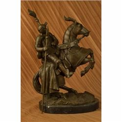 Signed Extra Large Kamiko Bold Knight on Horse Bronze Sculpture Statue Figurine