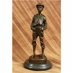 Mousse Siffleur Young French Boy Bronze Sculpture Marble Statue Figurine Decor