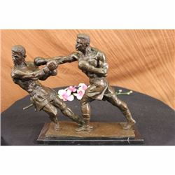 Muhammad Ali and Sonny Liston Second Round Fight Boxing Boxer Bronze Sculpture