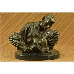 Art Deco Collector Edition Original Gone Wind Bronze Sculpture Movie Memorabilia