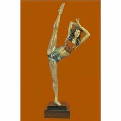 Limited Edison Signed Original American Artist Nick Gymnast Woman Bronze Statue